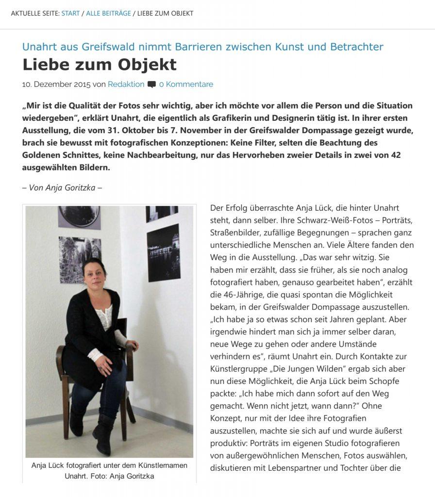 Liebevolle Berichterstattung von Anja Goritzka von texte & mehr