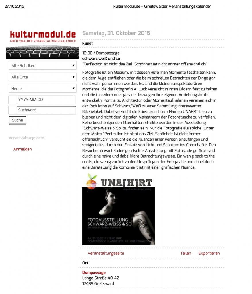 """Around about """"Schwarz-Weiß & So"""""""
